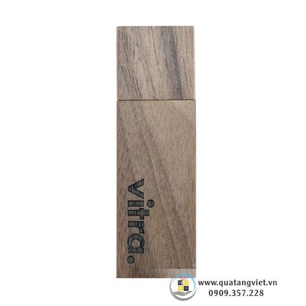 usb gỗ khắc tên quà tặng