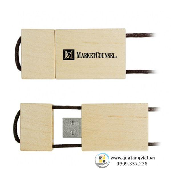usb gỗ dây kéo